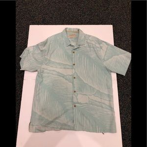 NWT Tommy Bahama 100% silk s/s Button Shirt sz L